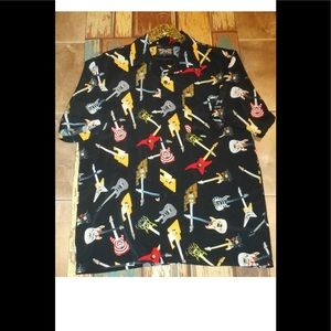 Dragonfly sz xL guitar button down shirt